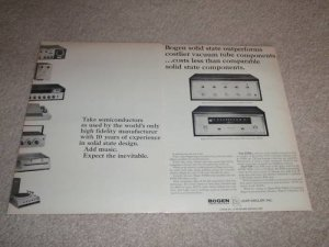 Bogen AT 600 Amplifier, FT 60 Tuner Ad, 1964, Article