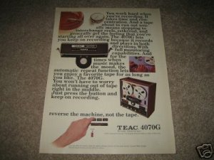 TEAC 4070G Reel to Reel Ad from 1976, beautiful!
