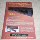 Polyfusion 920 CD Player Ad, 1995, Article
