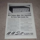 Scott 210-C Amplifier Ad, 1955, Articles, Specs, Tubes!