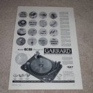 Garrard RC88 Triumph II Turntable Ad,1957,Article,NICE!