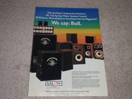 American Acoustics Labs Speaker Ad, 1982,Article, RARE!