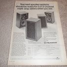 Pioneer CS-A700,CS-A500 Speakers Ad from 1970,specs
