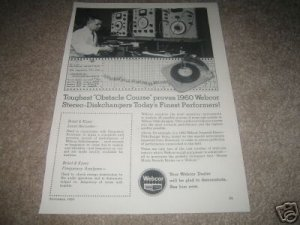 Webcor Turntable Ad from 1960