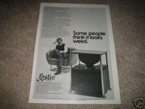 Leslie Speakers DVX Series Ad from 1975,DVX-580,unique!