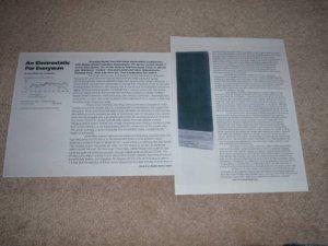 Acoustat Model Two Speaker Review, 1981, 2 pgs, Specs