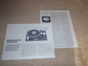 Trans Audio ORACLE Turntable Review,2 pgs,1982,FullTest