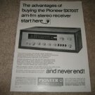 Pioneer SX-700T Ad from 1968,RARE!