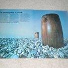 Sony Omni-Radials Speaker Ad, 1970, 2 pgs, Very Rare!