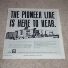 """Pioneer Audio Ad 1966,Entire Line,Article,RARE! 9""""x9"""""""