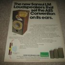 Sansui LM-330 Speaker Ad from 1975