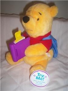"Animated Stuffrd Pooh Bear ""Story Book Pooh"""