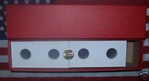 NEW 100 QUARTER 2x2 COIN HOLDERS CARDBOARD FLIPS W/BOX