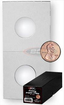 100 Cardboard Paper Mylar Coin Flips Assorted Sizes+Box