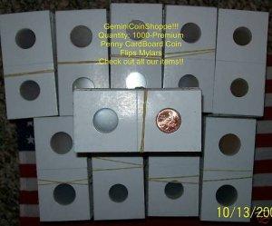 Coin Holder 2x2 Paper Mylar 1000 FLIPS Any~Cent-Dollar