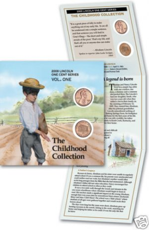 Lincoln Penny Cent Cabin 5-Booklets LP1 w/P+D  Coins