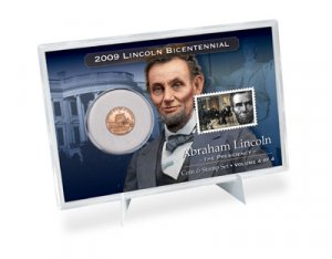 09 LIMITED Ed. LINCOLN PRESIDENCY COIN & STAMP SET LP4
