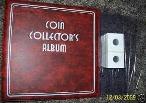 NEW-COIN COLLECTING STARTER KIT~w/BINDER~5-PAGES~MYLARS