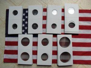 2x2 Coin Holders 25-Snap tites UR CHOICE-SIZES-Supplies