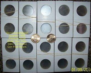 1000 NEW 2x2 MYLAR COIN HOLDER FLIPS (Quarter Quarters)