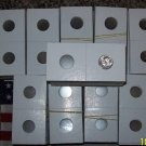 2000 2x2 MYLAR COIN Paper FLIPS (LG $ Morgan Peace Ike)