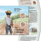 5-Lincoln Penny Cent Cabin Booklets LP1 W/P+D Coins