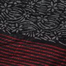 LONG Scarf - Black & Red & Grey Dual Design Scarf