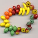 Glass Beads Fruit Salad  Mix Great for Carmen Miranda 32 Pcs