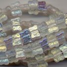 Crystal AB Butterfly Glass Czech Beads Charms