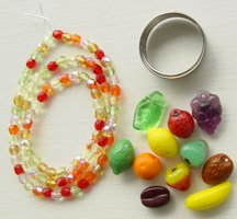 Wine Glass Fruit Charms Kit  You Make It