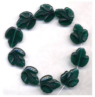 Green Grapes Fruit Leaf Beads Autumn Maple Oak Leaf
