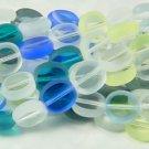 Aqua Blue Turquoise 10mm Sea Beach Glass Colors Beads