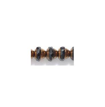 Acorn Shape Black Copper Fire Polish Glass Beads