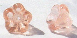 6x8mm Peach Glass Cup Flower Beads Trumpet Shape