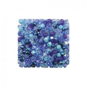 4mm Blue Mix Swarovski 5301 Bicone Crystal Mix