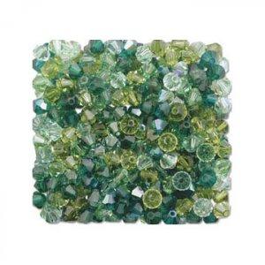 4mm Green Swarovski Crystal Mix  $1.50 postage