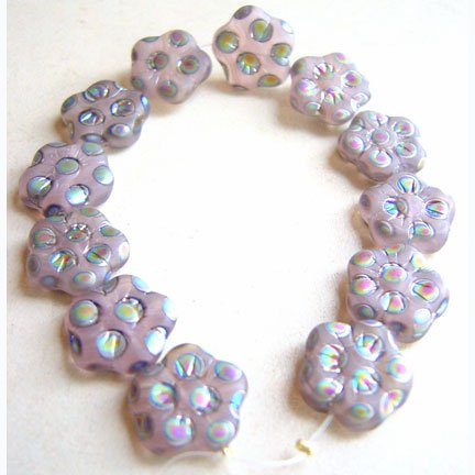 Antique Pink Mauve Rose Matte Peacock Flower Beads