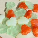 Tangerine Orange Lemon Lime Leaves Glass Beads Citrus