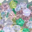 Flower Beads Lavender Garden Mix Button Back Shank 7MM Purple Green