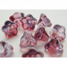 Red and Purple Amethyst Flower Beads BIG 11mm Trumpet