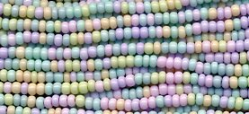 Pastel Spring Colors Easter Egg Seed Beads 11/0 Czech