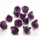 Amethyst Purple Flower Beads Wholesale Lot Czech Glass Great!