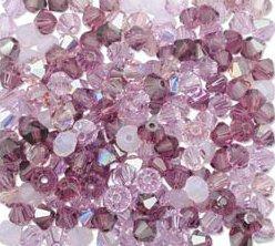 6mm 5301 Swarovski Lilac Mix Purple Amethyst Opal