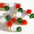 Christmas Color Swarovski Green Red White Cheerful Mix