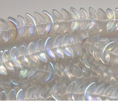 15mm Crystal AB Angel Wings Glass Beads