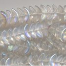 10mm Crystal AB Angel Wings Glass Beads 25 pcs