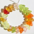 Red Yellow Orange Green Tropical Fruit Flower Beads 20