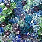 4mm 5301 Bicone Swarovski Crystal Jeweltone Mix Blue Green Amethyst Purple
