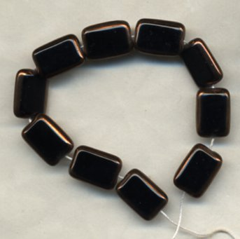 Jet Black Rectangle Table Window Vintage Style Beads
