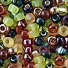 Earth Miyuki Seed Bead Mix Glass 8/0 Topaz Amber Green